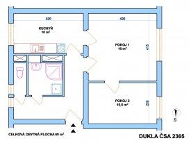 Pronájem bytu 2+1 na Dukle